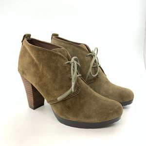 Giani Bernini Olot green suede ankle boots